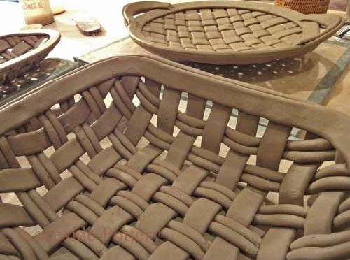 Basket Weave on Clay